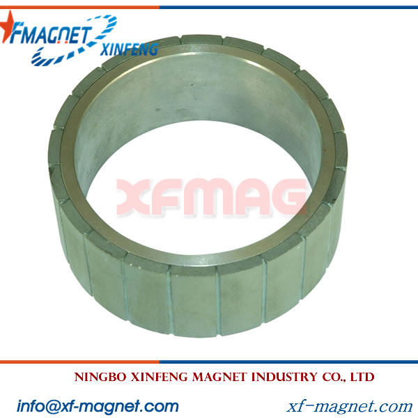 Zn Coated Radial NdFeB Ring Magnet