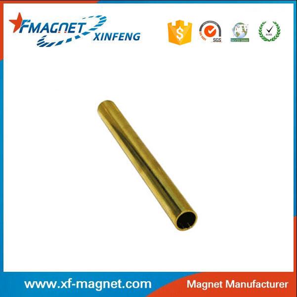 Brass Sleeved Neodymium Tube Magnets