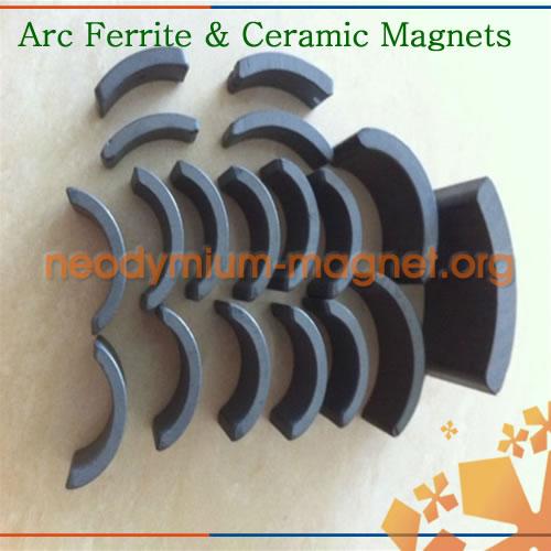 Sintered ferrite motor magnet